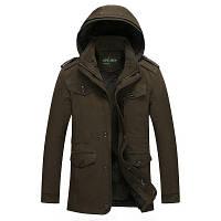 Мужская зимняя куртка с капюшоном. Модель 6156, фото 9