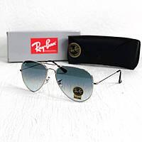 Мужские солнцезащитные очки авиаторы Rb silver