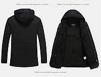 Мужская зимняя куртка с капюшоном. Модель 6156, фото 10