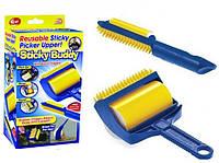 Валик липкий для уборки Sticky Buddy Желтый/Синий, фото 1