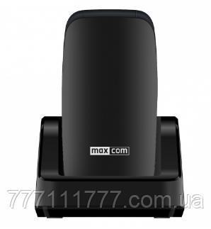 Телефон раскладушка с большим дисплеем, подставкой для зарядки и камерой на 2 сим карты Maxcom MM817 Black