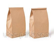 Набор 100 шт. крафт пакетов ЮТЕК  (100% recycled) с прямоугольным дном, без ручек, 230*120*290 мм КП-100-230