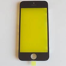 Скло корпуса Apple iPhone 5 з рамкою Black