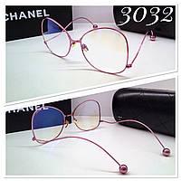 Женские очки для работы за компьютером защитные оверсайз металлические розовые с уф и компьютерной защитой