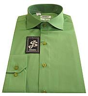 Мужская рубашка приталенная из сатина №10-12 А - 606/15-6432, фото 1
