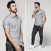 """Шикарная и стильная серая мужская рубашка """"Оттава"""", фото 2"""