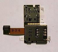 Конектор SIM-карти для Nokia E51, з шлейфом, з конектором карти пам'яті
