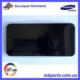 Дисплей с сенсором Samsung A015 Galaxy А01 Black, GH81-18209A, оригинал с рамкой!