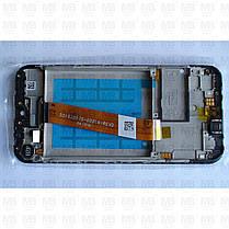 Дисплей с сенсором Samsung A015 Galaxy А01 Black, GH81-18209A, оригинал с рамкой!, фото 2
