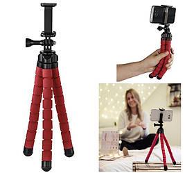 """Штатив НАМА """"Flex"""" для смартфонов и GoPro, 26 см, цвет красный"""