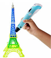 3D ручка 3D Pen+LED-дисплей Голубой цвет