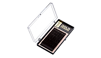 Ресницы, завиток D, 0.12 (16 рядов: 10 mm), упаковка Gold Standard