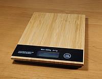 Кухонные весы из дерева Германия до 5 кг с батарейки в подарок