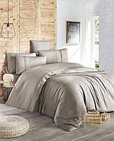 Комплект постельного белья First Choice Gala Vizon ranforce deluxe 200-220 см бежевый