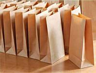 Набор 100 шт. крафт пакетов ЮТЕК  (100% recycled) с прямоугольным дном без ручек, 250*140*350 мм, КП-100-250