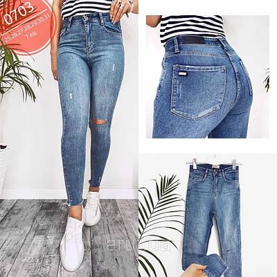 Женские джинсы американки рваные
