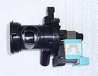 Насоса Ariston/Zanussi и др. в корпусе с фильтром для стиральной машины. Диаметр отводов 32мм,20мм,5мм, cod 10
