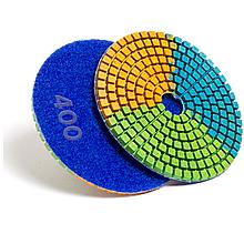 Алмазный гибкий шлифовальный круг ЧЕРЕПАШКА, АГШК зернистость 400, d 100мм