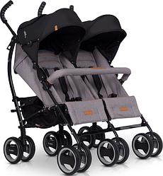 Прогулочная коляска для двойни EasyGo Duo comfort grey fox