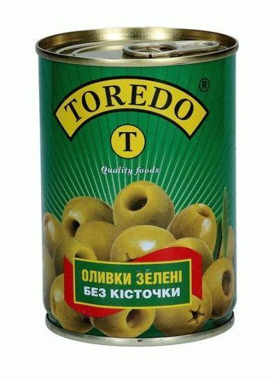 """Оливки зелені без кісточки """"Toredo"""" 280 г"""