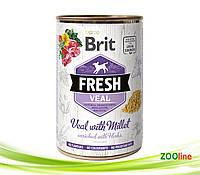 Консерва для собак телятина,пшено Брит Фреш Brit Fresh Veal/Millet  400г