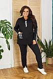 Женский спортивный костюм  с удлиненной кофтой Турецкая двунитка Размер 48 50 52 54 56 58 60 62 Разные цвета, фото 5