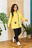 Женский спортивный костюм  с удлиненной кофтой Турецкая двунитка Размер 48 50 52 54 56 58 60 62 Разные цвета, фото 7