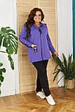 Женский спортивный костюм  с удлиненной кофтой Турецкая двунитка Размер 48 50 52 54 56 58 60 62 Разные цвета, фото 8