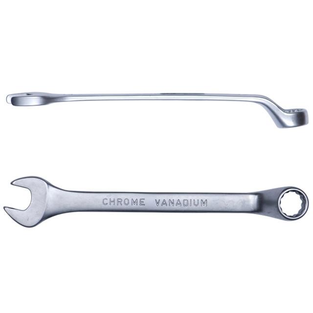 Ключ рожково-накидний глибокий 18мм CrV satine Sigma (6024181)