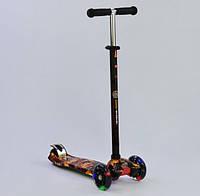 Самокат для ребёнка Best Scooter MAXI  А 24661 /779-1310 светятся колёса (чёрный)