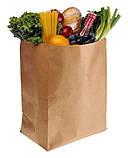 Набор 100 шт. крафт пакетов ЮТЕК  (100% recycled) с прямоугольным дном, без ручек, 230*120*290 мм КП-100-230, фото 2