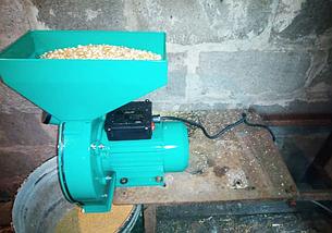 Зернодробилка, драч Master Kraft, мощность 2,8 кВт, бункер на 10 кг., фото 2