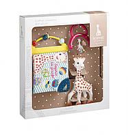 Подарочный набор Жирафа Софи с погремушкой и развивающей книжечкой Vulli