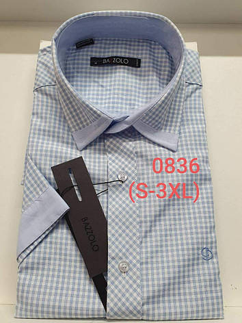 Рубашка с коротким рукавом Bazzolo 0836, фото 2