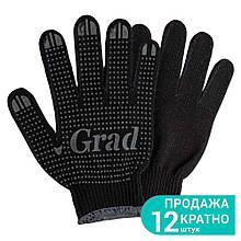 Перчатки трикотажные с ПВХ точкой р10 Лайт (черные) Grad (9442755)