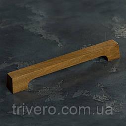 Дизайнерская мебельная ручка деревянная орех