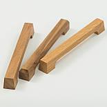 Дизайнерская мебельная ручка деревянная с гранями орех, фото 2