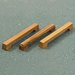 Дизайнерская мебельная ручка деревянная с гранями орех, фото 3