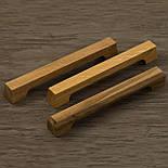 Дизайнерская мебельная ручка деревянная с гранями орех, фото 5