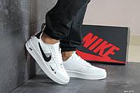 Кроссовки мужские Nike Air Force  Black в стиле Найк Аир Форс 1, белые