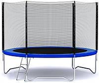 Батут FunFit 183 см + сетка до 90 кг для взрослых и детей профессиональный (з сіткою для дорослих і дітей)