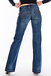 Женские джинсы OMATjeans клёш от колена 9216 синие, фото 3