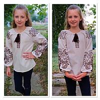 """Стильна дитяча вишиванка """"Міланка"""" на льоні, зріст 122-152 см., 550/450 (ціна за 1 шт. + 100 гр.)"""