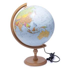 Глобус 320 політико-фізичний з підсвічуванням (англійська) 540212