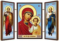 Казанская икона Божией Матери. Икона. Складень деревянный 58Х84