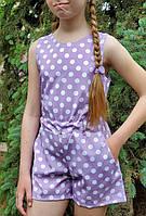 Ромпер для девочки  код 935  лето , размеры на рост от 140 до 158 возраст от 9 лет и старше, фото 1