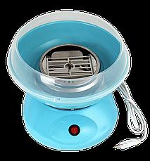 Аппарат для сладкой ваты Cotton Candy Maker + палочки в подарок Голубой, фото 2