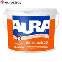 Лак акриловый Aura Aqua Lack 20 полуматовый 2.5л AURA