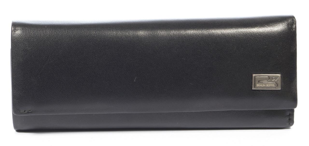 Стильна елітна міцна надійна шкіряна ключниця BRAUN BUFFEL art. BU-6955 чорний
