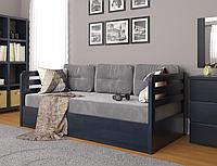 """Детская деревянная кровать """"Немо люкс"""" с подъемным механизмом венге. Фабрика Арбор Древ"""